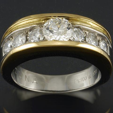 形見のジュエリーを使ったダイヤモンドリング