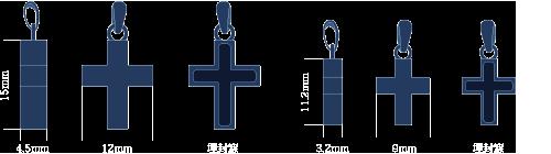 ペンダント・クロスの基本デザイン図
