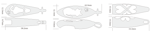 フラッフィ・シルエットの基本デザイン図